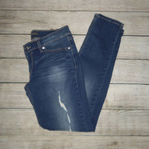 Levi's Too Superlow Distressed Skinny Jeans 9M